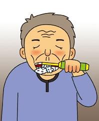 老人刷牙 有了電動牙刷,口腔清潔就ok嗎?